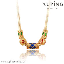 42901 Xuping beads jewelry fashion hot sale 18k delicate luxury copper alloy jewelry necklace